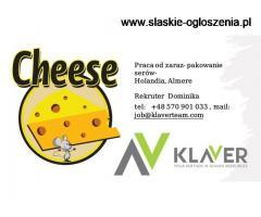 Praca od zaraz- pakowanie serów- Holandia, Almere